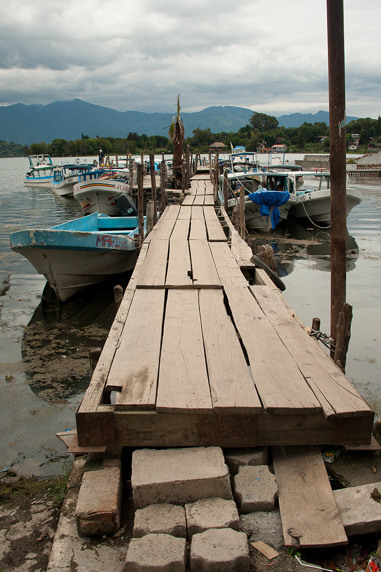 Docks on Lake Atitlan, Guatemala