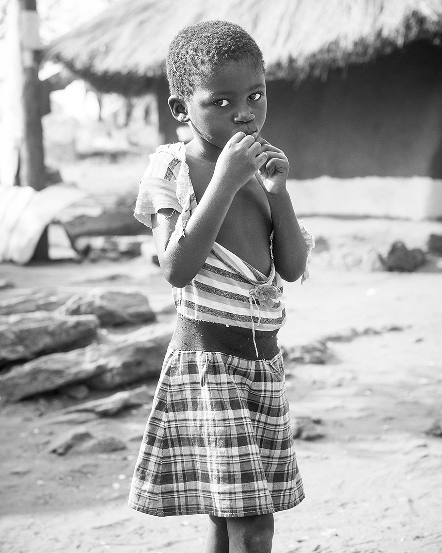A Child in Lake Kariba Fishing Village