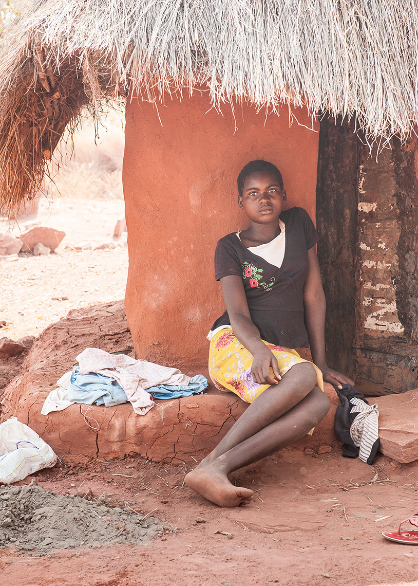 A Young Woman in Lake Kariba Fishing Village